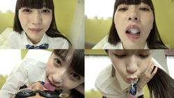 [Tongue tongue tongue] Super rich tongue tongue face licking spit drop play! Kusumi