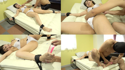 [Tickling] Popular actress Kaede Nagano Chan's large-sized character is fixed to the bed and tickled! !! !!