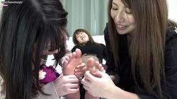 ③ [FF / F] Tsukasa Nagano, Renka Yamamoto, Karen Kyowa's lesbian sole tickling