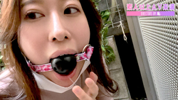 [Jun Harumi's mouth shackle walk ☆ Self-shame with saliva on the roadside in the middle of the day! ] -Jun Harumi-